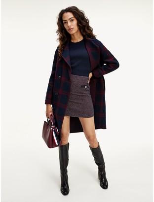 Tommy Hilfiger Plaid Wool Coat