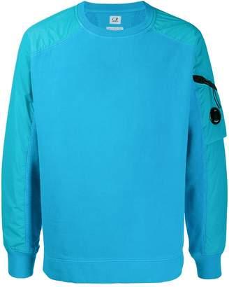 C.P. Company sleeve pocket crew neck sweatshirt