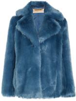 MICHAEL Michael Kors Faux Fur Jacket - Blue