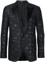 Lanvin lurex embroidered tuxedo jacket