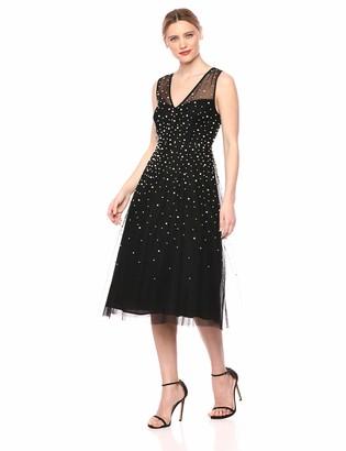 BCBGMAXAZRIA Azria Women's Sleeveless Faux Pearl Dress
