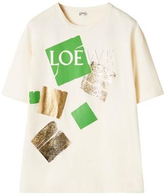 Loewe Logo Square Print T-Shirt