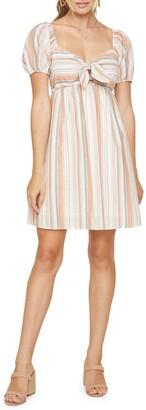 Lost + Wander Skyline View Stripe Short Sleeve Cotton Babydoll Dress