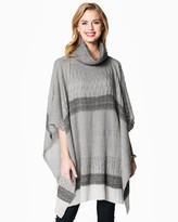 Charming charlie Striped Cape Sweater