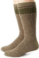 Dickies Men's 2 Pack Cotton Thermal with Stripe Accents Boot Crew Socks