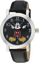 Disney Women's 'Mickey Mouse' Quartz Metal Automatic Watch, Color: (Model: W002757)