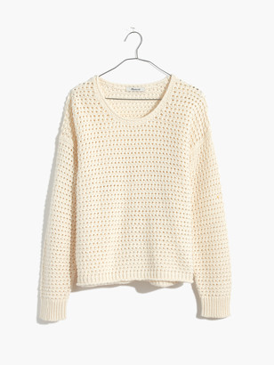 Madewell Solid Bondi Open Stich Pullover
