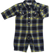 Rough-and-Tumble Plaid Coverall - Blue (0-3 Months)