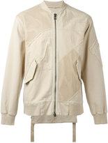 Helmut Lang patchwork bomber jacket - men - Cotton/Spandex/Elastane - S