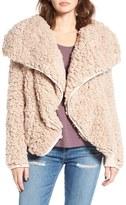 Women's Coffee Shop Whubby Draped Faux Fur Jacket