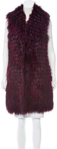 Oscar de la Renta Fur Longline Vest w/ Tags