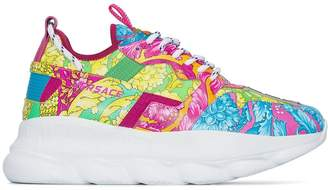 Versace Chain Reaction floral print sneakers