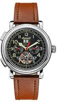 Ingersoll Men's The Bloch Automatic Watch with Black Dial and Brown Leather Strap I02602