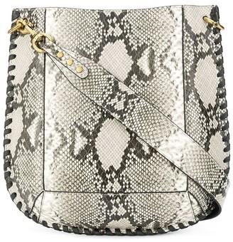 Isabel Marant Oskan snakeskin crossbody bag