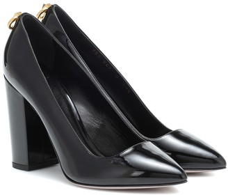 Valentino Garavani Ringstud patent leather pumps