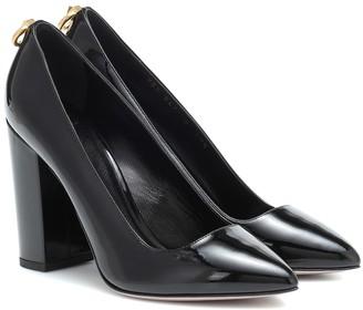 Valentino Ringstud patent leather pumps