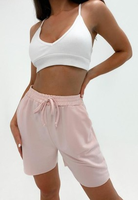 Missguided Petite Pink Boyfriend Shorts