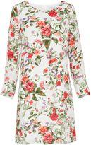 Gina Bacconi Summer garden chiffon long sleeve dress