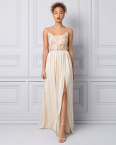 Le Château Embellished Lace & Chiffon Gown
