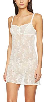 Aubade Women's NUISETTE Baby Doll, Off-White (NACRE NACRE), S (Manufacturer Size: 2)