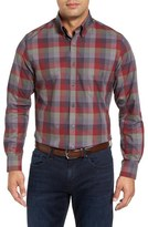 Bobby Jones Lux Regular Fit Plaid Sport Shirt