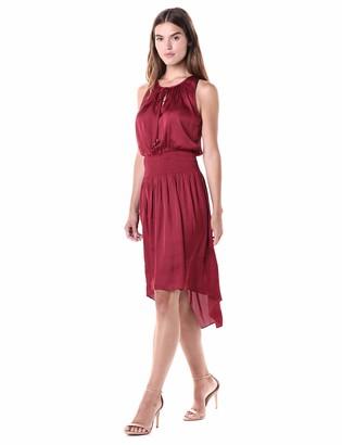 Halston Women's Sleeveless Round Neck Dress w/Keyhole