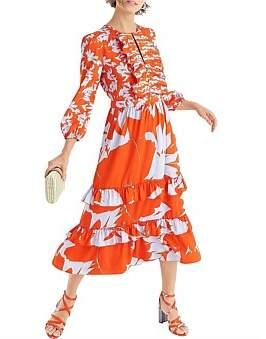 J.Crew Toro Tiered Ruffle Dress