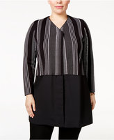 Alfani Plus Size Layered-Look Sweater Coat, Only at Macy's