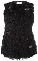 Valentino embroidered fur gillet