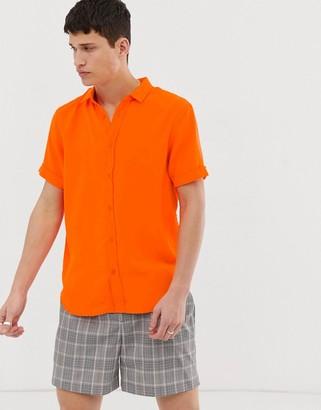 Brave Soul neon short sleeve shirt
