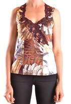 Class Roberto Cavalli Women's Multicolor Cotton Tank Top.