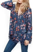Free People Women's Floral Print Smocked Tunic