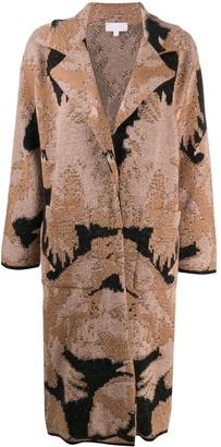 Lala Berlin Abstract Knit Cardigan Coat