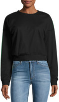 Cheap Monday Mirage Mesh-Overlay Crop Sweater, Black