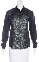 Prada Silk Printed Blouse