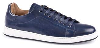 Bugatchi Como Glazed Leather Sneaker