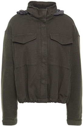 James Perse Paneled French Cotton-blend Terry Hooded Jacket