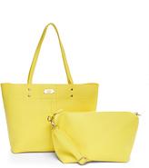 BCBGMAXAZRIA Yellow Stitch Front Tote & Crossbody Bag