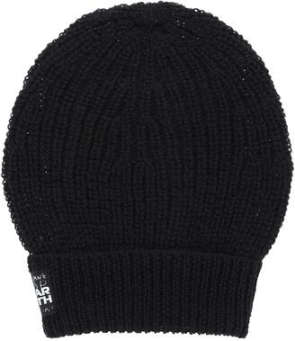 Raf Simons WOOL BEANIE SLOGAN PATCH OS Black Wool