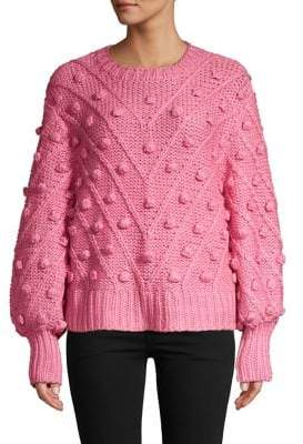 C/Meo Cmeo Collective Pom-Pom Balloon-Sleeve Sweater