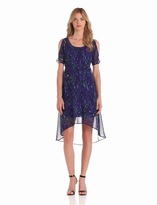 Donna Morgan D1221M Cold Shoulder High Low Dress