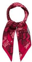 Christian Dior Snakeskin-Printed Silk Scarf