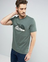 The North Face Mountain Line T-Shirt in Green