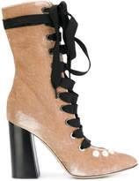 Blugirl lace up ribbon boots