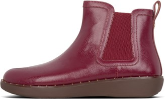 FitFlop Chai Microstud Patent Chelsea Boots