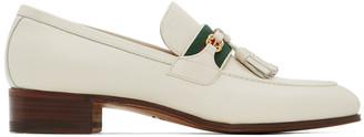 Gucci Off-White Interlocking G Loafers