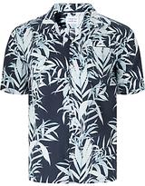 Libertine-libertine Cave Hawaiian Short Sleeve Shirt, Blue