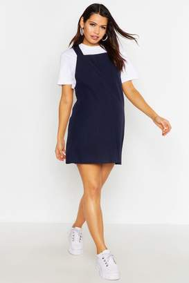 boohoo Maternity Woven Grow With Me Pinafore Dress