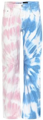 Loewe Paula's Ibiza tie-dye straight jeans