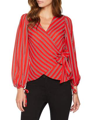 Warehouse Women's Wrap Tie Blouse